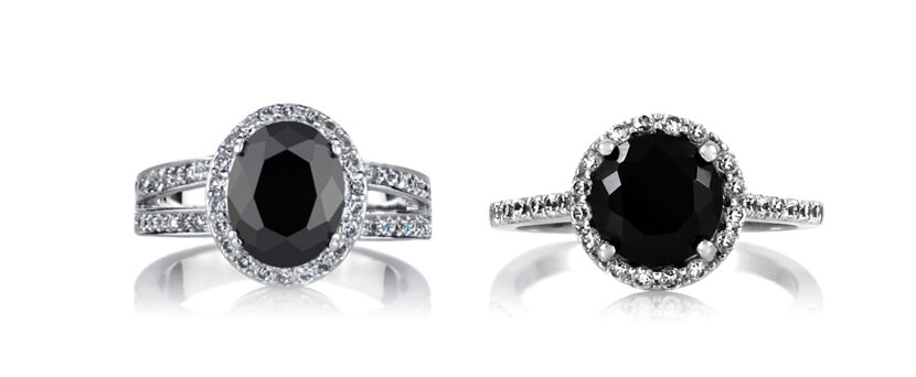 How about a Combination of Clear and Black Diamond for Your Engagement Ring